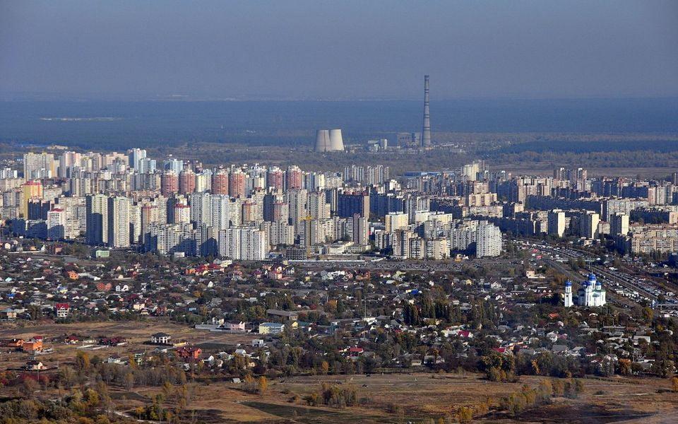 Деснянський район міста Києва, вид з висоти
